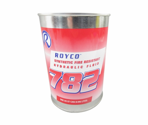 ROYCO® 782 Red MIL-PRF-83282D Spec Synthetic Fire Resistant Aircraft Hydraulic Fluid - Quart Can
