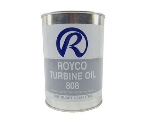 ROYCO® 808 Clear MIL-PRF-7808L Spec Advanced Synthetic Turbine Engine Oil - Quart Can
