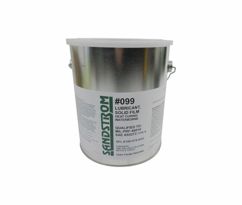 Sandstrom #099 Gray SAE AS5272 Type III / MIL-PRF-46010 Color 1 Spec Heat Cure Solid Film Lubricant - Gallon Can