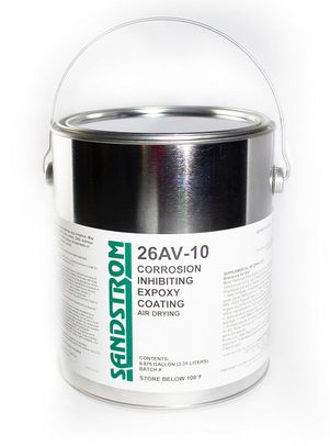 Sandstrom 26AV-10 Clear Air Drying Corrosion Inhibiting Heat & Chemical Resistant Epoxy Coating - 87.5% Gallon Can