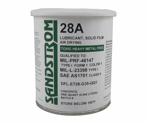 Sandstrom 28A Gray MIL-PRF-46147D Amendment 1, Type I Form 1, Color 1 Spec Solid Film Lubricant - Quart Can