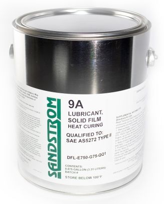 Sandstrom 9A Flat Dark Gray AS5272 Type II Spec Heat Cure Solid Film Lubricant - Gallon Can