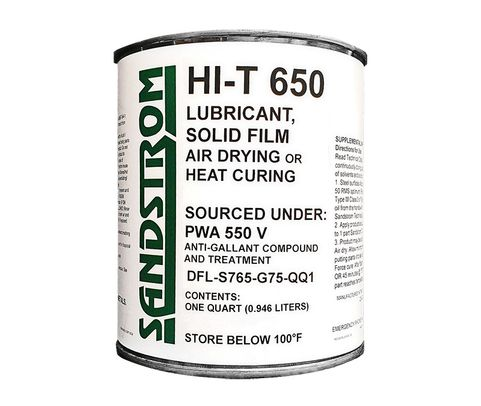 Sandstrom HI-T 650 Gray PWA550 Spec Air Dry or Heat Cure Solid Film Lubricant - Quart Can