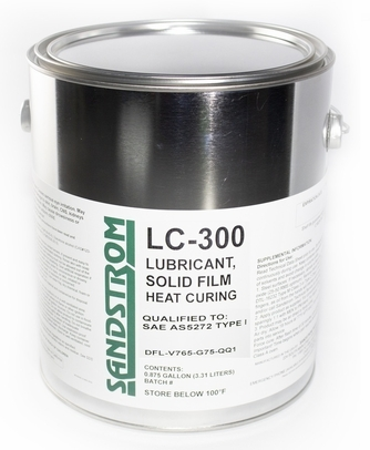 Sandstrom LC-300 Flat Dark Gray AS5272 Type I & II Spec Heat Cure Solid Film Lubricant - Gallon Can