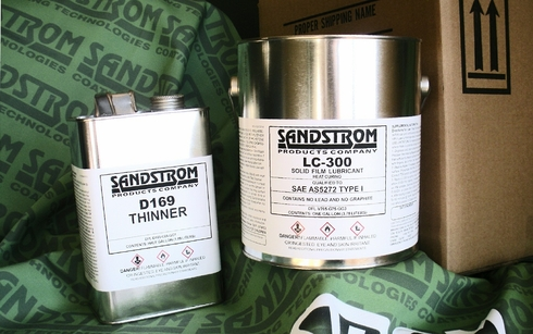 Sandstrom LC-300 Flat Dark Gray AS5272 Type I & II Spec Heat Cure Solid Film Lubricant - Gallon Can/� Gallon D169 Kit