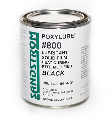 Sandstrom Poxylube� #800 Black PTFE Modified Heat Cure Dry Film Lubricant - Quart Can