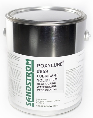Sandstrom Poxylube� #859 Jet Black Waterborne PTFE Heat Cure Dry Film Lubricant - Gallon Can
