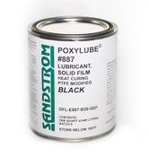 Sandstrom Poxylube® #887 Black PTFE Heat Cure Dry Film Lubricant