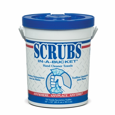 """SCRUBS IN-A-BUCKET� 42272 Citrus Fragrance 8"""" x 12"""" Hand Cleaning Towel - 72 Towel/Container"""