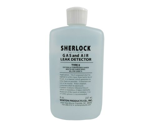 Sherlock T2-8S Type II Oxygen & Compressed Gas Leak Detector - 8 oz Squeeze Bottle
