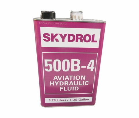Eastman™ Skydrol® 500B-4 Purple BMS3-11P Type IV, Class 2 Spec Fire Resistant Hydraulic Fluid - 9.11 Kg (Gallon) Can