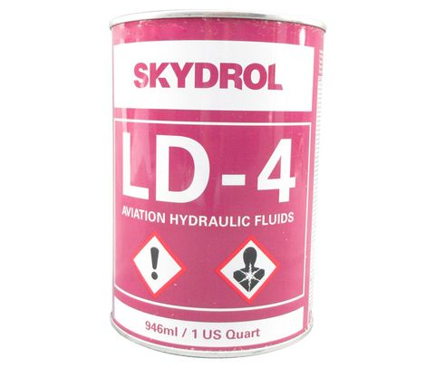 Eastman� Skydrol� LD-4 Purple BMS3-11P, Type V, Grade B & C Spec Fire Resistant Hydraulic Fluid - 0.95 Kg (Quart) Can
