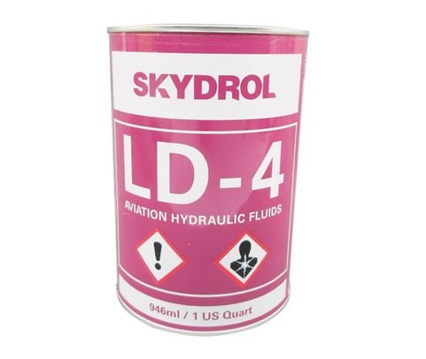 Eastman™ Skydrol® LD-4 Purple BMS3-11P, Type V, Grade B & C Spec Fire Resistant Hydraulic Fluid - 0.95 Kg (Quart) Can
