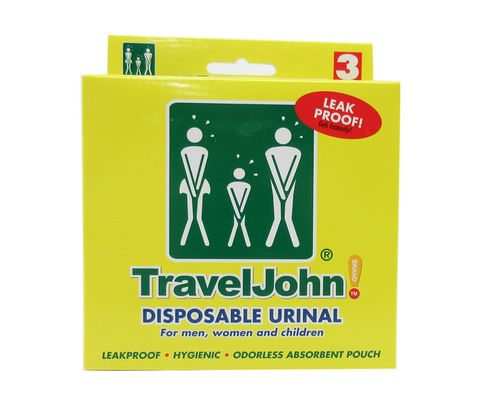 TravelJohn™ 66893 Disposable Urinals - 3 Urinal/Pack