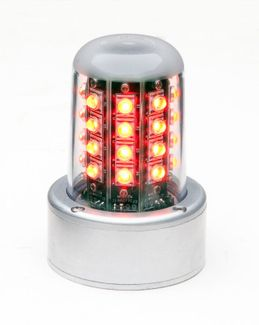 """WHELEN® 01-0771080-05 Model 7108005 Red 28-Volt 3.75"""" Mount & Flying Leads LED Anti-Collision Beacon"""