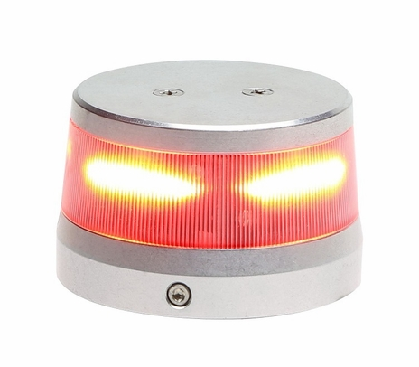 "WHELEN® 01-0772010-13 Model OR36R2WL Orion™ 360 Red 28-Volt 3.75"" Base Lower Mount LED Anti-Collision Light Assembly"
