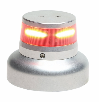 "WHELEN� 01-0772010-52 Model OR36R1W Orion� 360 Red 14-Volt 3.75"" Base Upper Mount LED Anti-Collision Light Assembly"
