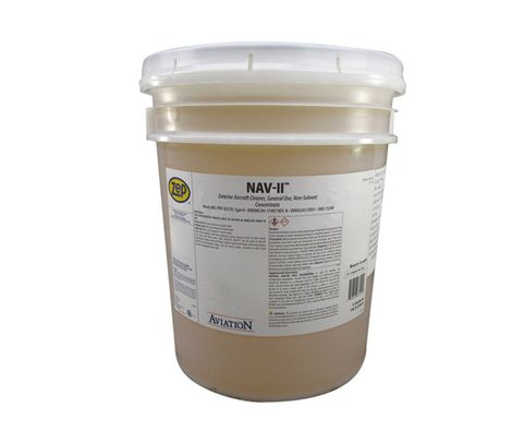 ZEP� H81235 Aviation� NAV-II Yellow MIL-PRF-85570 Type II Spec Exterior Aircraft Cleaner & Degreaser - 5 Gallon Pail