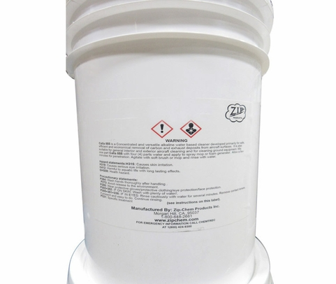 Zip Chem 002036 Calla 855 Alkaline Water-Based Exterior Aircraft Cleaner - 5 Gallon Pail
