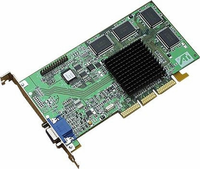 109-53400-11 ATI Rage 128 VGA AGP TV Tuner Video Graphics Card
