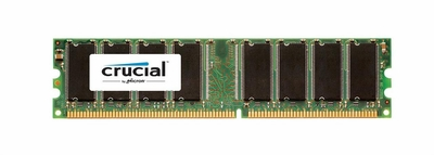 CT323842 Crucial 1GB PC3200 DDR-400MHz non-ECC Unbuffered CL3 184-Pin DIMM Memory Module