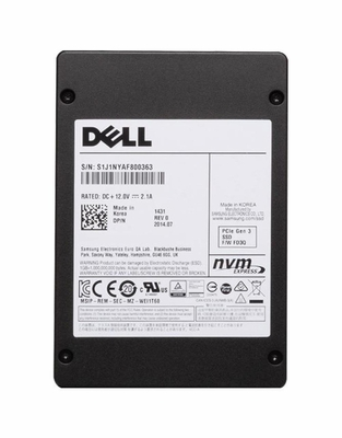 DK2G7 Dell 3.2TB TLC PCI Express 3.0 x4 NVMe Mixed Use U.2 2.5-inch Internal Solid State Drive (SSD) with Carrier