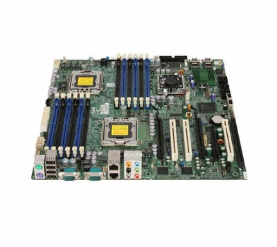 X8DA3 SuperMicro Workstation Motherboard Intel 5520 Chipset Socket B LGA-1366 Extended-ATX 2 x Processor Support 96GB DDR3 SDRAM Maximum RAM Floppy Controller, Serial Attached SCSI (SAS), Serial ATA/300 RAID Supported Controller 2 x PCIe x16 Slot (Re