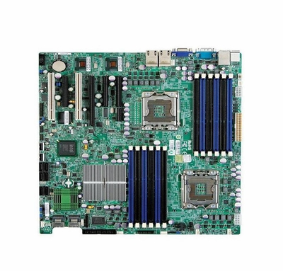 X8DT3 SuperMicro X8DT3 Server Motherboard Intel 5520 Chipset Socket B LGA-1366 Extended-ATX 2 x Processor Support 96GB DDR3 SDRAM Maximum RAM Floppy Controller, Serial Attached SCSI (SAS), Serial ATA/300 RAID Supported Controller Onboard Video (Refur