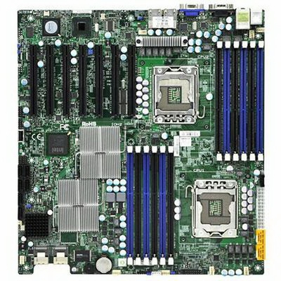X8DTH-6 SuperMicro X8DTH-6 Server Motherboard Intel 5520 Chipset Socket B LGA-1366 Extended-ATX 2 x Processor Support 96GB DDR3 SDRAM Maximum RAM Serial Attached SCSI (SAS), Serial ATA/300 RAID Supported Controller Onboard Video