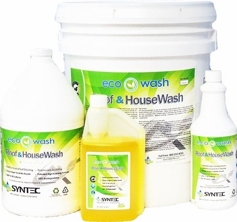 Eco-Wash Roof and House Wash Cleaning Chemicals 4 gallons