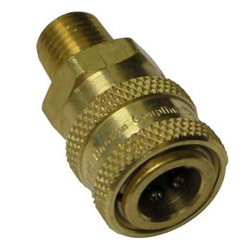 Hansen Brass 1/4 Quick Connects Socket W/MPT Pressure Washer Part