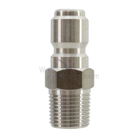 HPC Stainless Steel 1/4 Quick Connects Plug W/MPT Pressure Washer Part