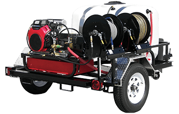 Pressure Pro TRHDCV5535HG 5.5 GPM Cold Water Power Washer Trailer