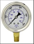 Pressure Washer Gauge 0-5000 PSI 1/4 MPT 140 Deg Max
