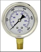 Pressure Washer Gauge 0-5000 PSI 1/4 MPT 140 Deg Max Pressure Washer Part