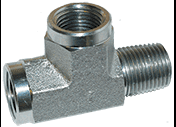 Steel Street Tee 1/4 FPT X 1/4 FPT X 1/4 MPT Pressure Washer Part