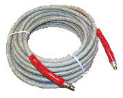 Tuff-Hyde 100' Gray Non-Marking 4000 PSI 1-Wire Hose For Pressure Washers