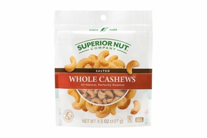 Salted Whole Cashews (4.5oz Bag)