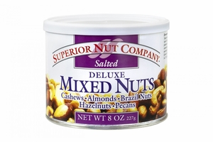 Superior Nut Salted Deluxe Mixed Nuts (12 Pack)