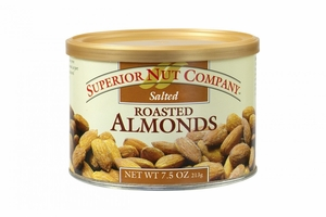 Superior Nut Salted Roasted Almonds (12 Pack)