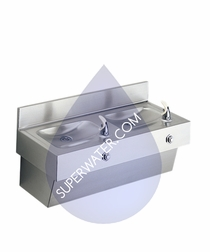 EDF210C  Elkay Two Station Stainless Steel Drinking Fountain