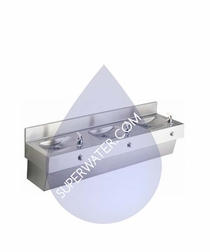 EDF310C  Elkay Three Station Stainless Steel Drinking Fountain