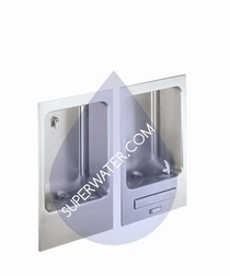 EDFBC212C  Elkay Wall Mounted Fully Recessed Water Fountain with Cuspidor