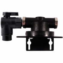 "HF1SQ6 / Homeland Single Filter Head with 3/8"" QC Elbow Valve Inlet"