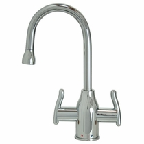 MT1801-NL Mountian Plumbing Modern HOT/COLD Curved Body and Handles Faucet
