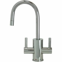 MT1841-NL Mountain Contemporary HOT/COLD Round Body and Handles Faucets