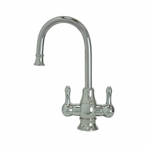 MT1851-NL Mountain PlumbingTraditional HOT/COLD Curved Body and Curved Handles Faucets