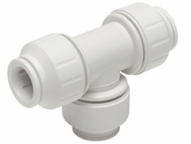 "PEI0228 / John Guest 3/4"" � 3/4"" � 3/4"" CTS Union Tee (White Polypropylene)"