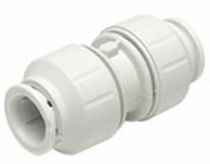 "PEI0436 / John Guest 1"" CTS (OD) Straight Union Connector (White Polypropylene)"