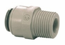 PI010821S / John Guest Male Connector-NPTF Thread 1/4 x 1/8 ( **10 pack )